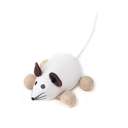 White Wooden Mouse