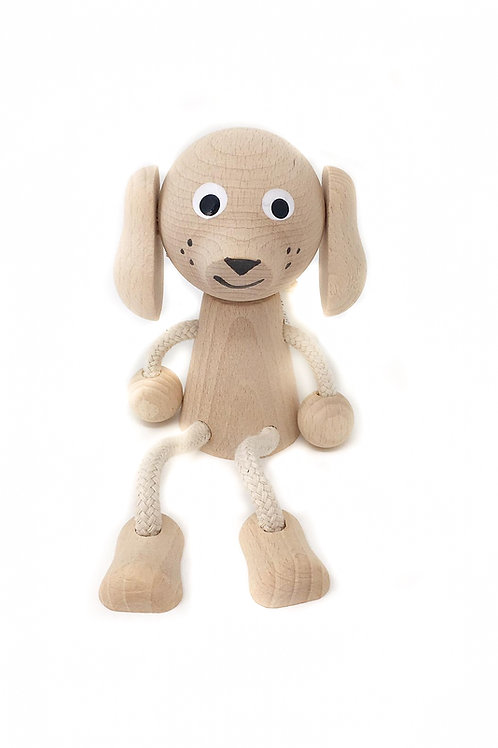 Wooden Sitting Dog