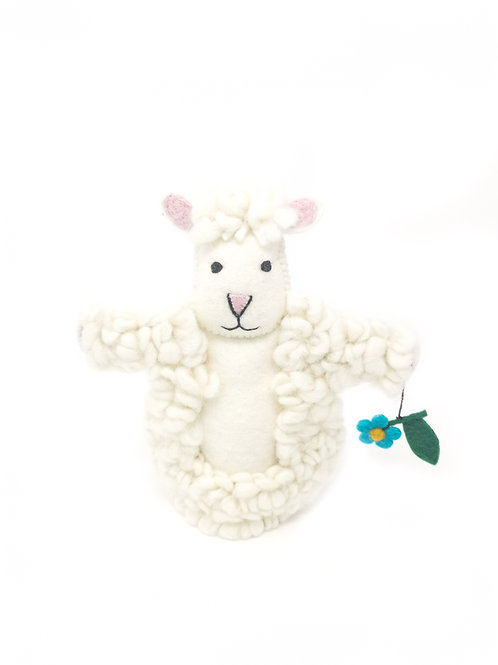 Felt Sheep Puppet