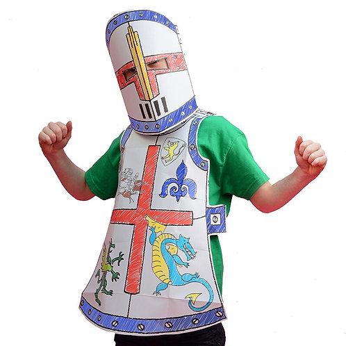Colour-in Knight Fancy Dress