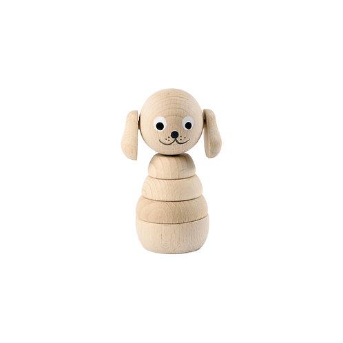 Wooden Stacking Dog