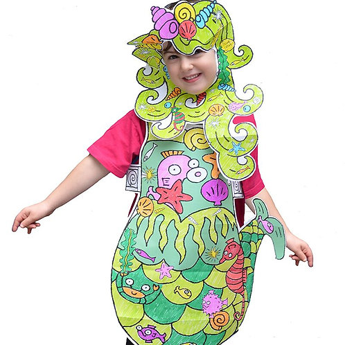 Colour-in Mermaid Fancy Dress