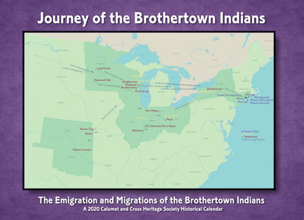 "2020 Calendar ""Journey of the Brothertown Indians"""