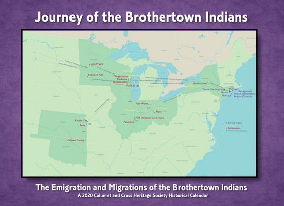 """2020 Calendar """"Journey of the Brothertown Indians"""""""