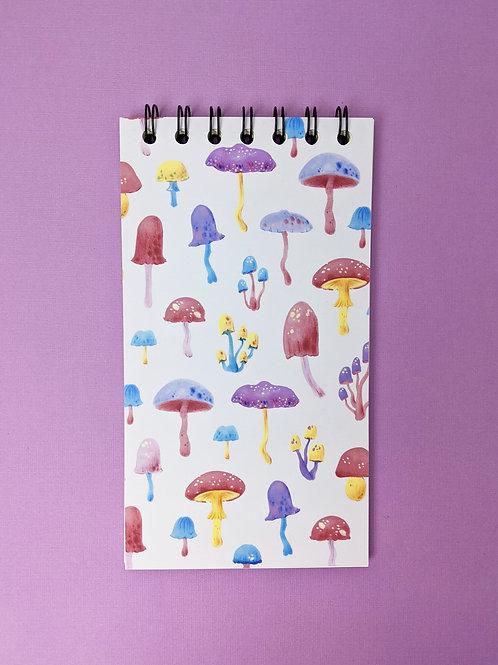 Mushrooms - Vertical Spiral Notepad