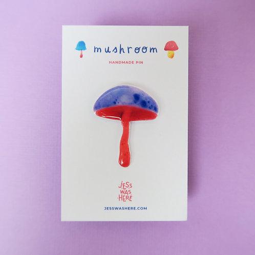 Purple Mushroom - Pin