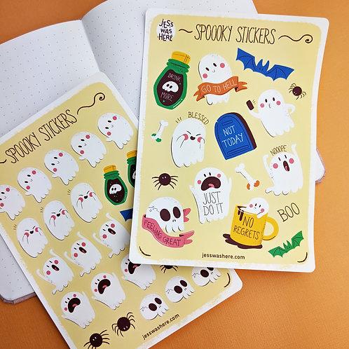 Set of Halloween Sticker Sheets