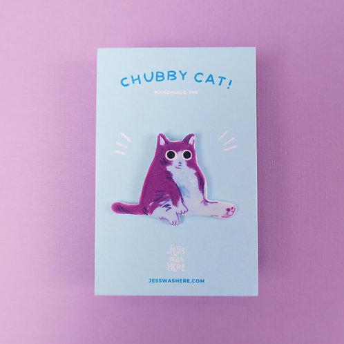 Chubby Cat - Pin