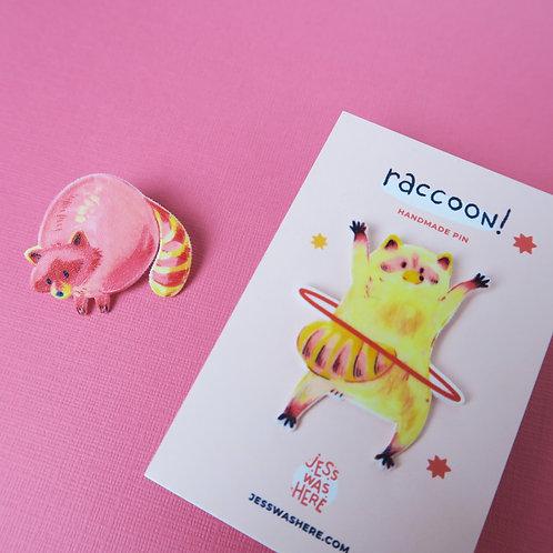 Raccoons and Hula Hoop - Pin set
