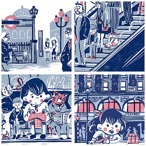Alice in WonderLondon - Postcard format Set