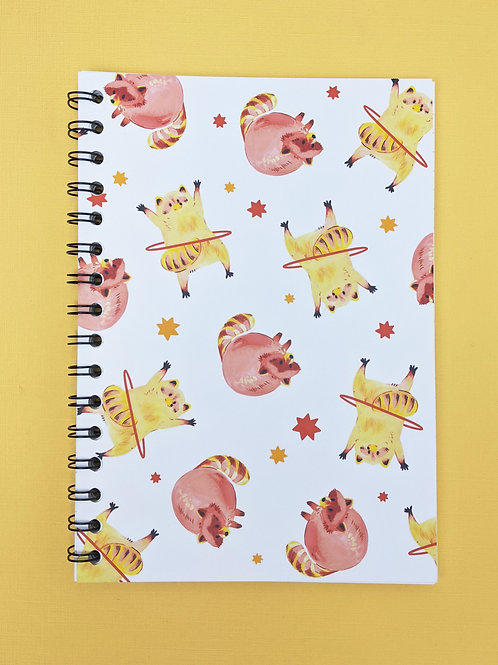 Raccoons - Spiral Soft Cover Notebook