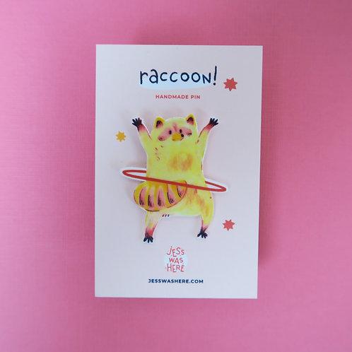 Raccoon and Hula Hoop - Pin