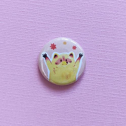 Yellow Raccoon - Badge
