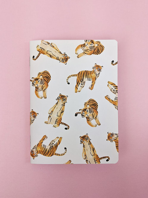 Tigers - A6 Stapled Notebook