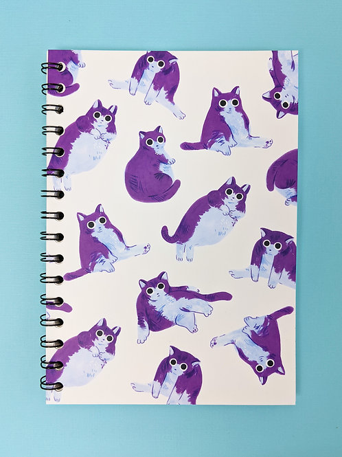 Chubby Cats - Spiral Soft Cover Notebook