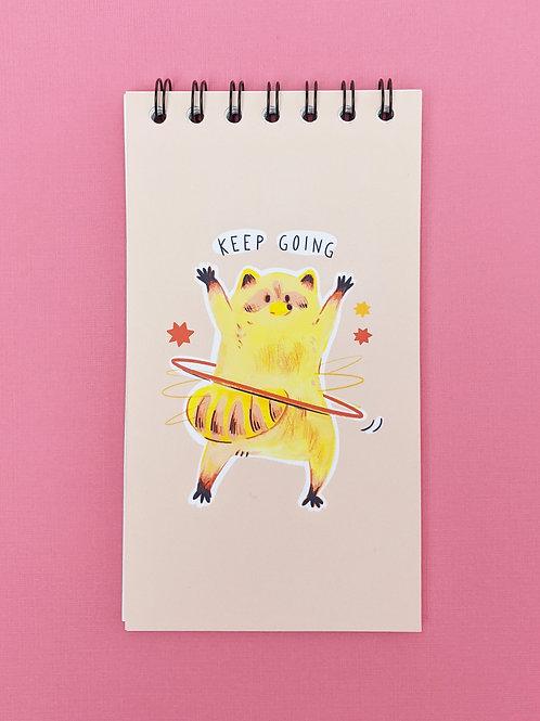 Keep Going - Vertical Spiral Notepad