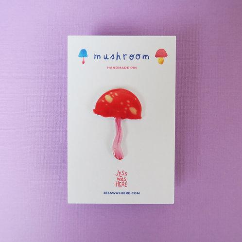 Pink Mushroom - Pin