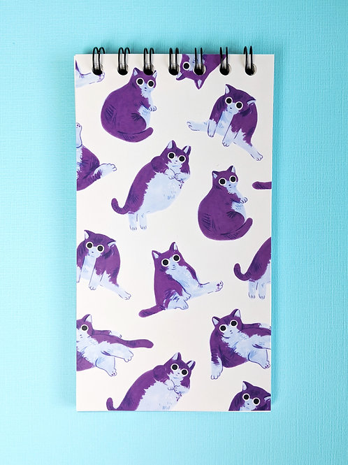 Chubby Cats - Vertical Spiral Notepad