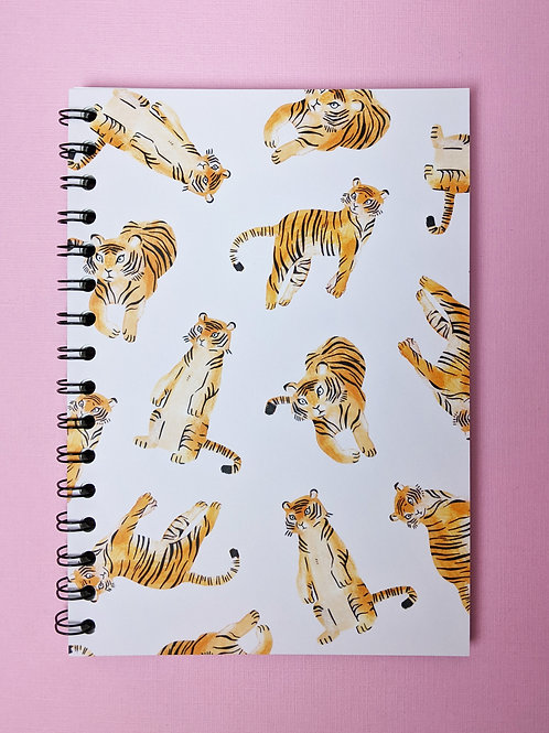 Tigers - Spiral Soft Cover Notebook