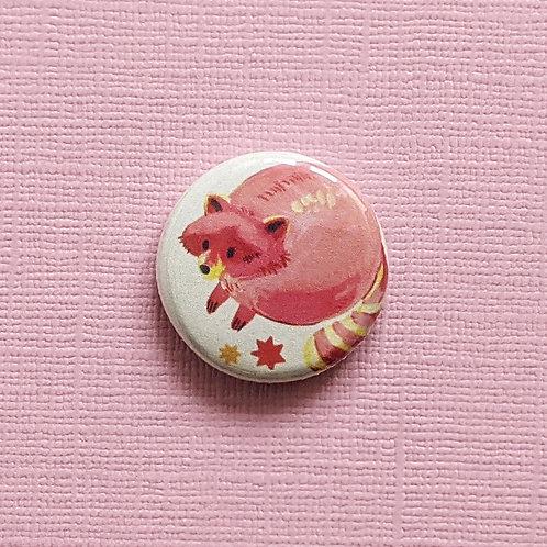 Pink Raccoon - Badge