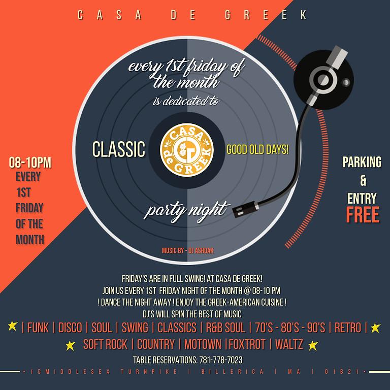 Friday Classic DJ Night