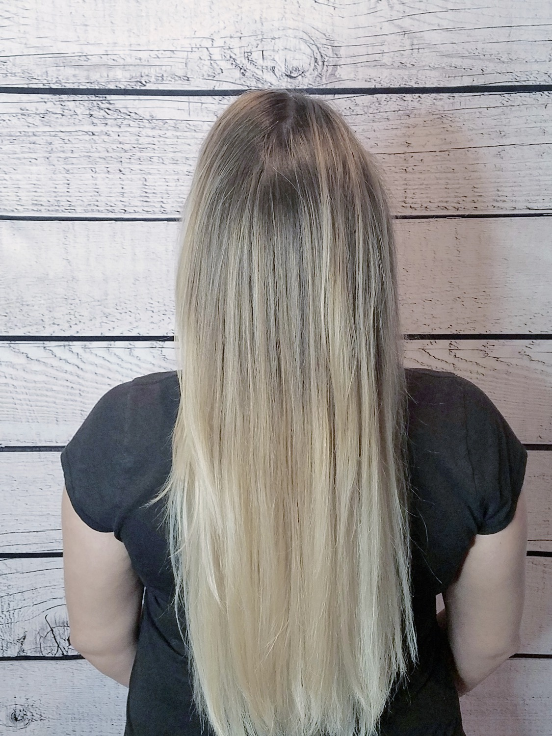 Full head baby lights with balayage