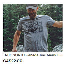 Mens True North Tee Canada