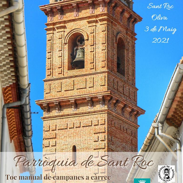 Toques manuales de campanas para la misa en honor al Santissim Crist de Sant Roc.
