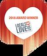 2018 Award Winner badge from Locals Love Us dot com