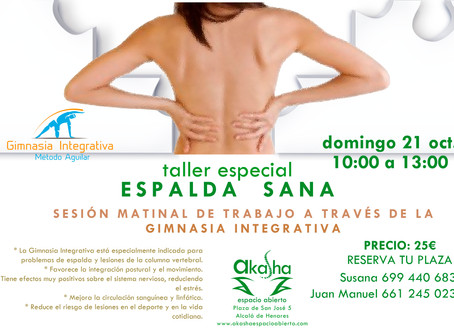 taller especial ESPALDA SANA