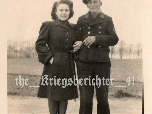 A Matrosengefreiter On Leave With Girlfriend
