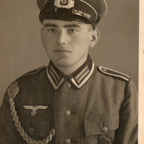 A Studio Portrait of Young Heer Unteroffizier Marksman