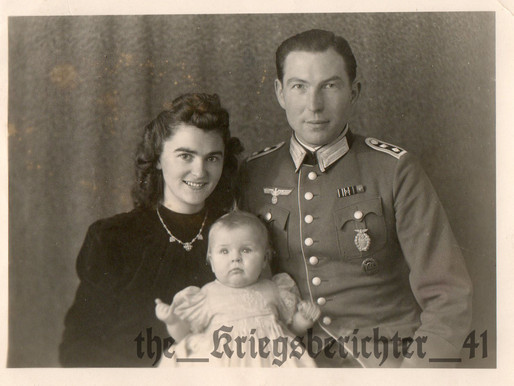 A studio Portrait of Oberfeldwebel Karl and his family