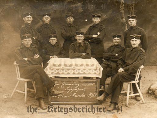 Studio Portrait of the Reserve Infanterie-Regiment Nr. 77- 1912