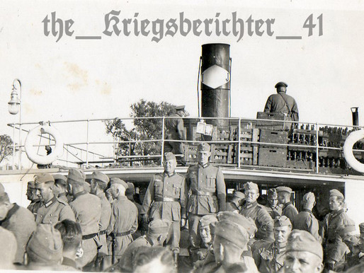 Journey on a steamboat on the River Weichsel 30/6/40
