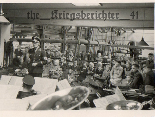 "SS-Verfügungstruppe-Standarte Nr. 2 ""Germania"" Band Perform For A Factory"