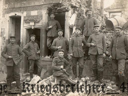 The 2.Badisches Feld-Artillerie-Regt. Nr.30 (Rastatt) XIV Armee Korps Posing In Ruins
