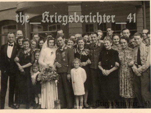 Highly Decorated Luftwaffe Wedding with Friends & Family