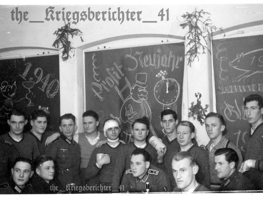 A Prosit Neujahr Celebration 1939 - Funkers of the 19th Infantry Division