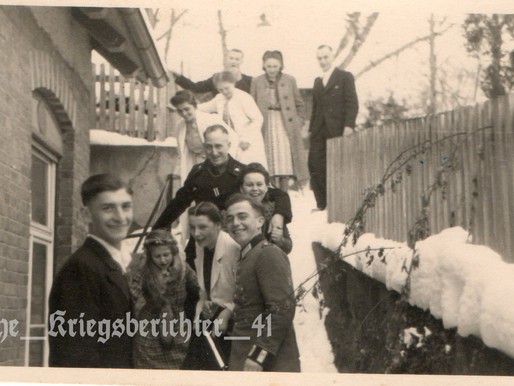 Panzertruppen Gefreiter and Young Heer Officer Cadet with Family 18/1/1941