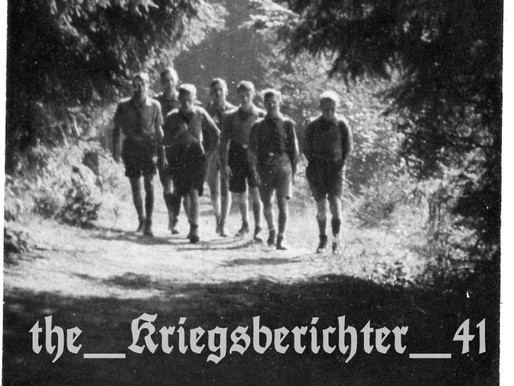HitlerJugend on a hike through the forest