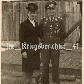 Hauptmann Hans Brzenk with his Wife Freda 1944