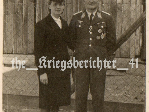 Hauptmann Hans Brzenk with his Wife Freda 1944