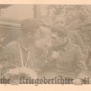Injured Offizieranwärter & Obergefreiter Share Cigarettes In The Field