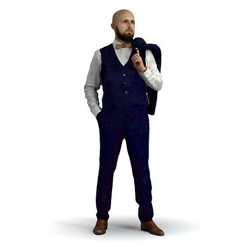 3D Man Night Suit 012 | 3d model | 3d scan | bonboniere3d