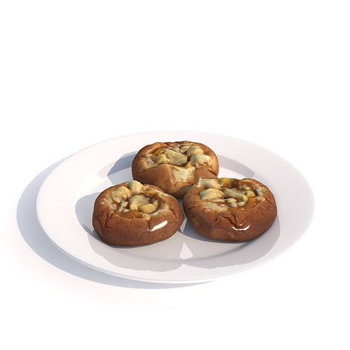 3Dscan 3Dmodel realistic cake food fruit vegetable kitchen toastbun interior table breakfast vray max fbx obj bonboniere3d
