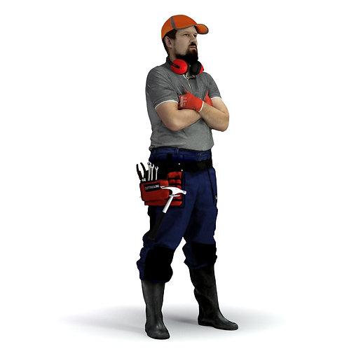 3D Worker 019 | 3d model | 3d scan | bonboniere3d