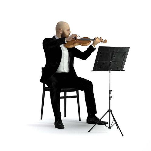 3D Musician 029   3d model   3D scan