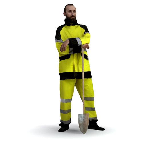 3D Worker 015 | 3d model | 3d scan | bonboniere3d