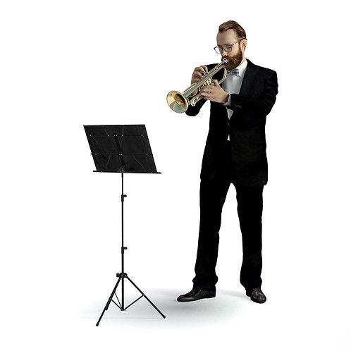 3D Musician 034 | 3d model | 3D scan